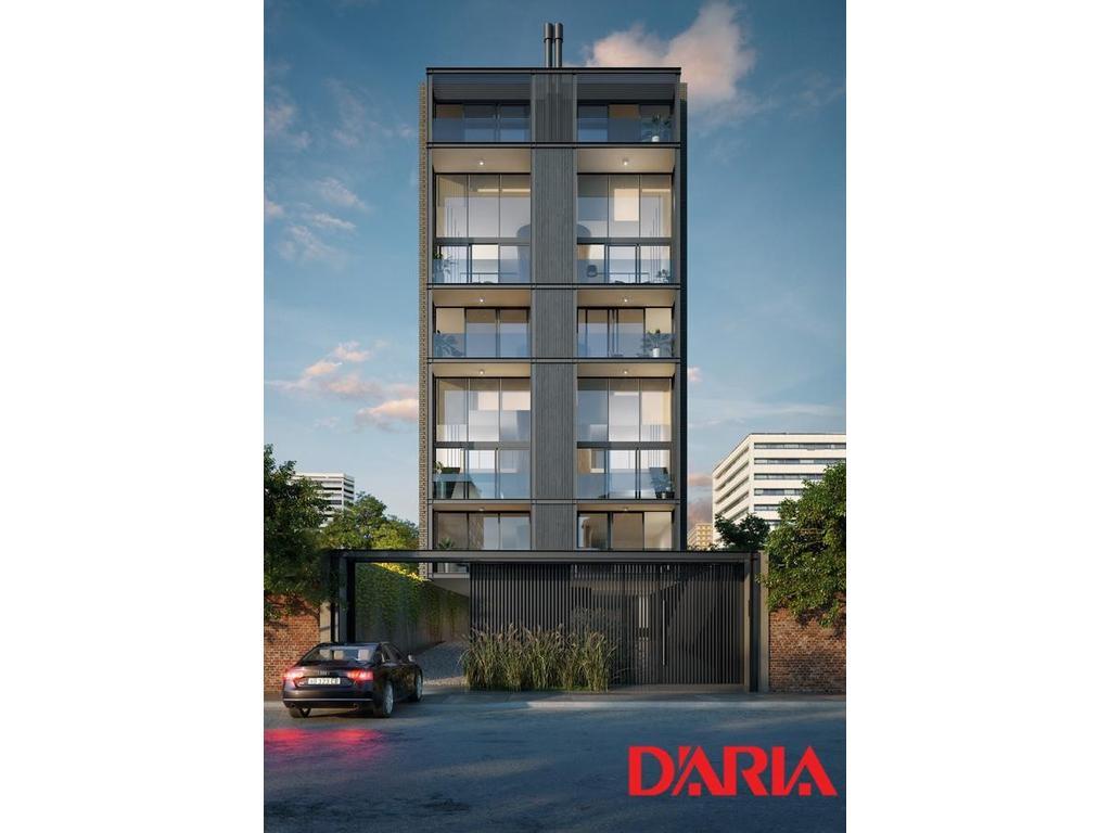 Exclusivo loft 2 ambientes, balcón aterrazado con parrilla propia. Vistas abiertas.
