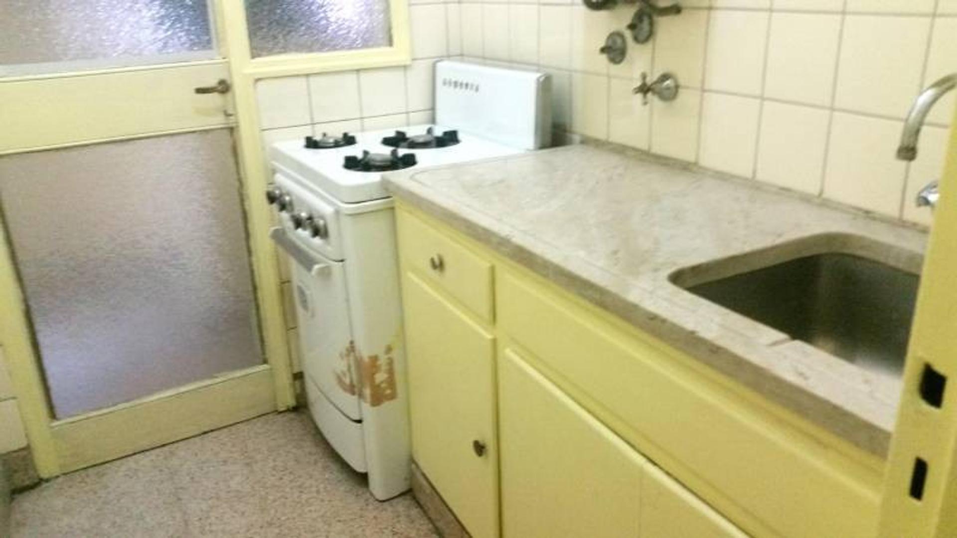 Departamento en venta de 1 ambiente con baño,cocina completa y lavadero independiente