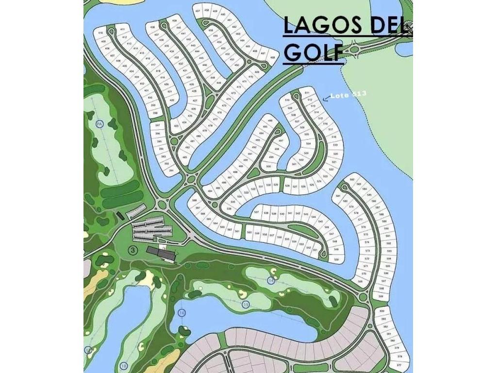 Lagos del Golf. Nordelta. Lote al agua (lago central)