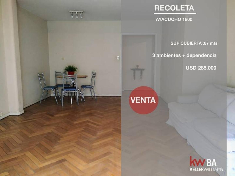 Departamento en Venta en Recoleta - 3 ambientes