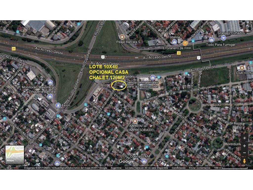 OPORTUNIDAD UNICA!! EXCELENTE LOTE 10X40 A MTS DE BARCALA Y COLECTORA ACC.OESTE A CAPITAL
