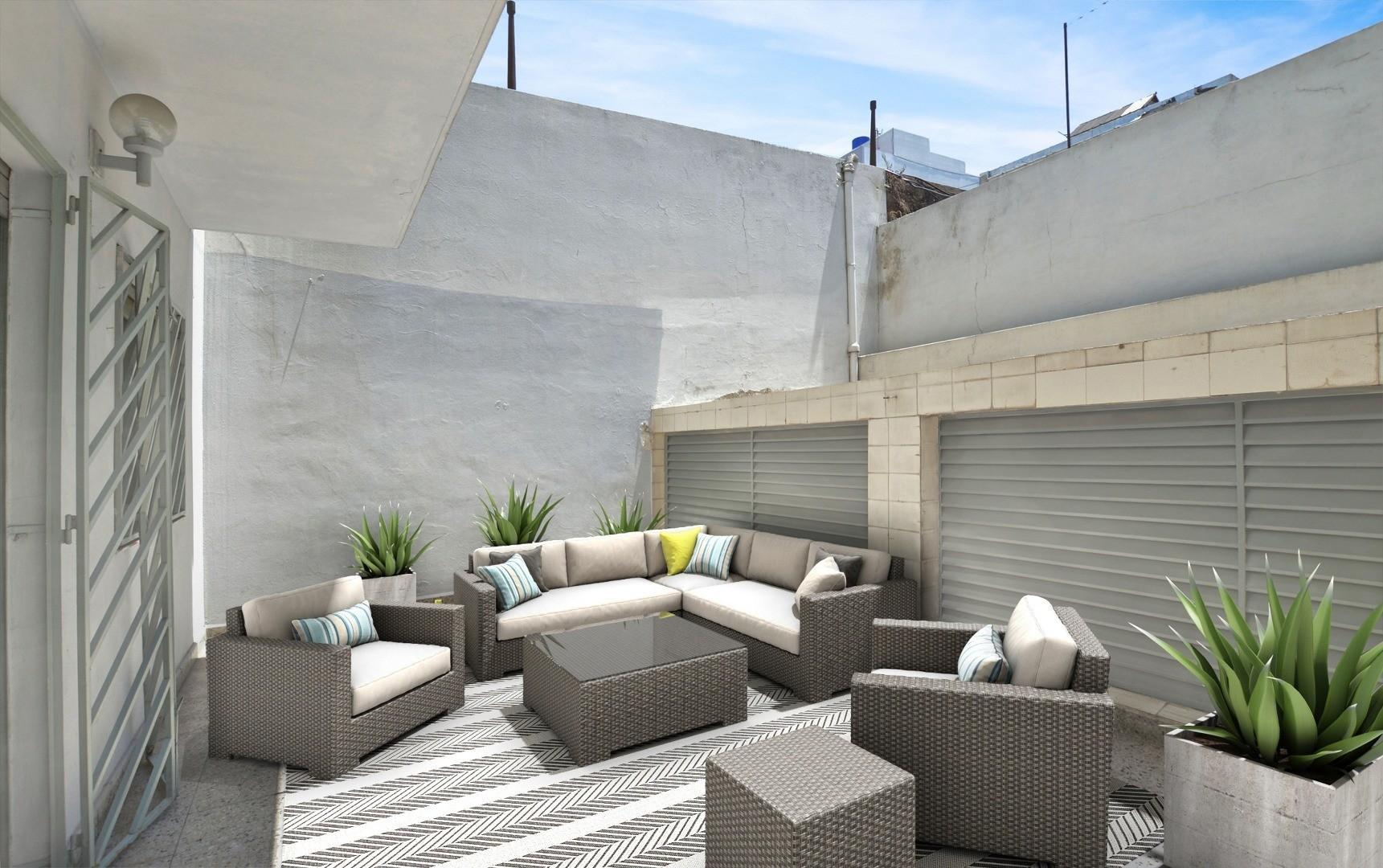 Depto Tipo Casa C/dos Patios de 82 m2 A/créd.