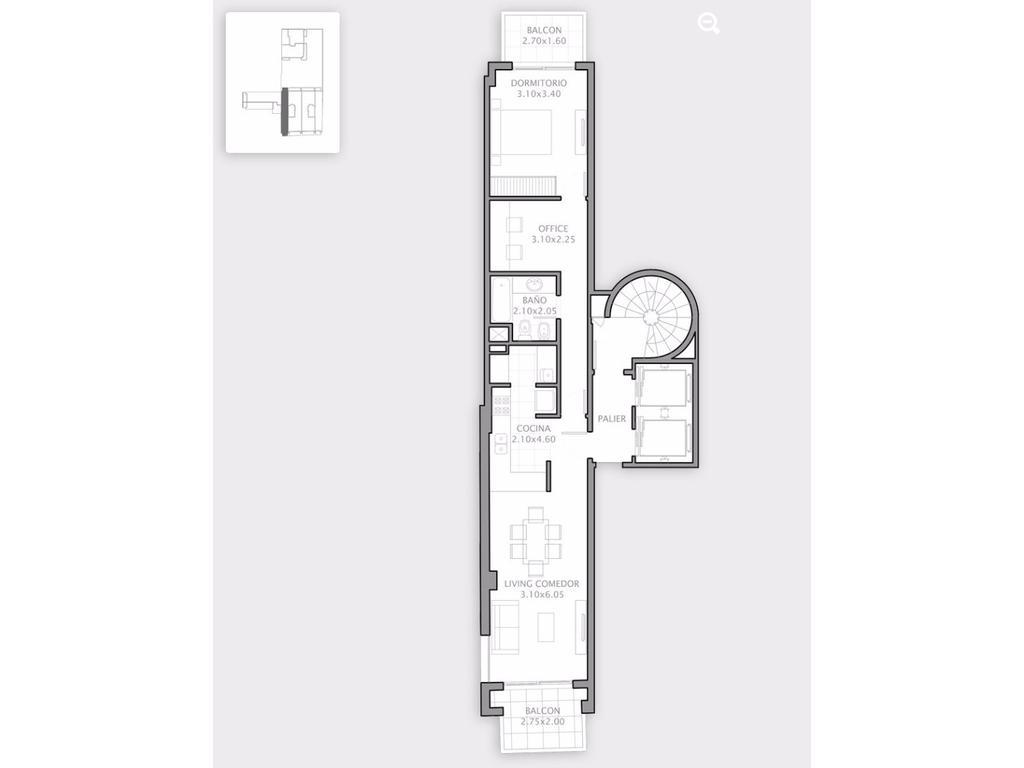 1 Dormitorio Grande  vista al Rio (Premium)