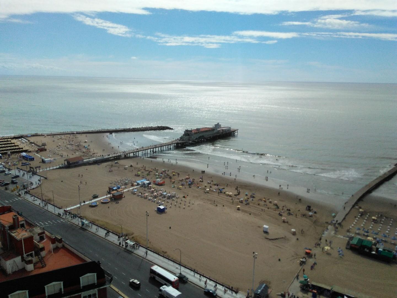 Depto 2 amb con balcón, vista panorámica al Mar y cochera cub. Centro!