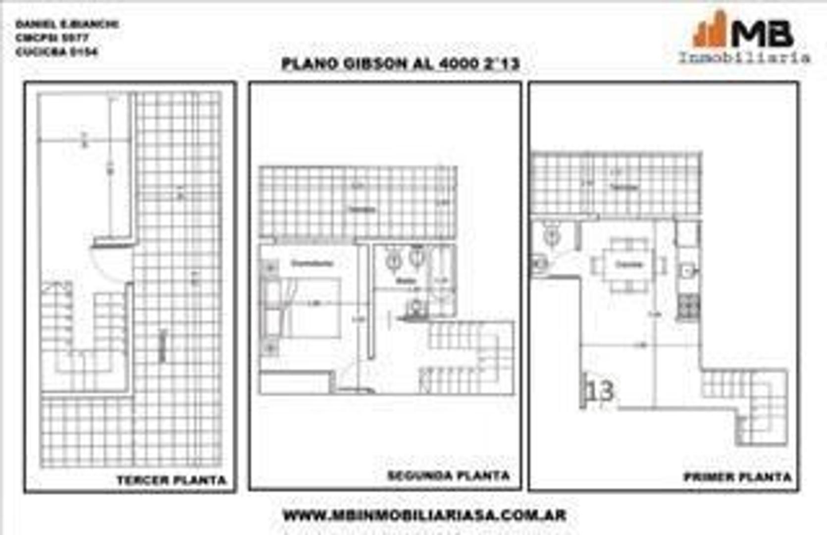 Boedo venta en pozo PH 3 amb.c/terraza en Gibson al 4000 2°13