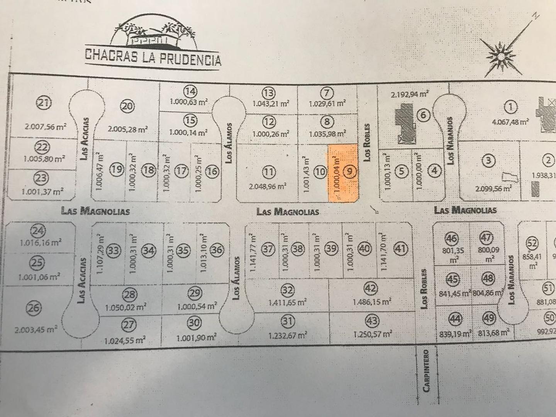 LOTE EN EL BARRIO CHACRAS LA PRUDENCIA