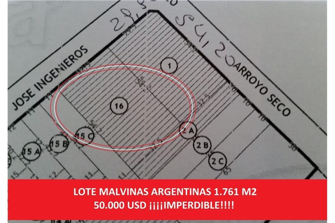 Gran Lote en Malvinas Argentinas