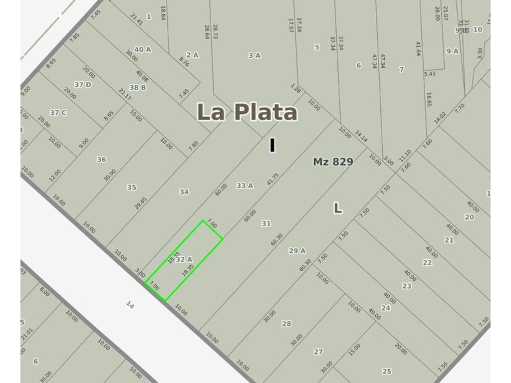 Lote en venta La Plata Calle 14 e/44 y 45 Dacal Bienes Raices