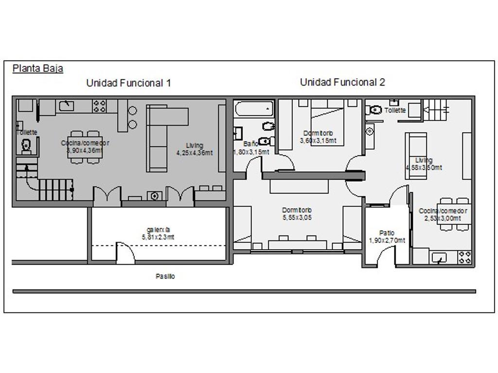 2 dtos en block 70 m2 y 90m2 ambos u$s150.000. rentados los dos a $23.500. con actualización del 15%