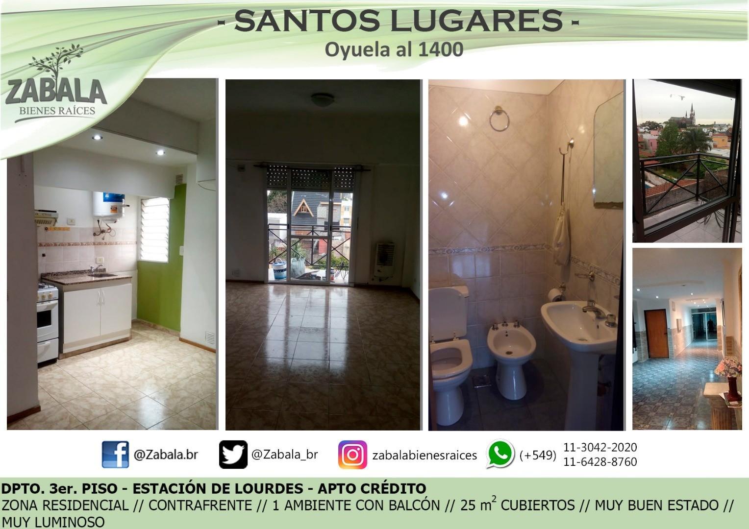 Departamento en Venta en Santos Lugares - Monoambiente