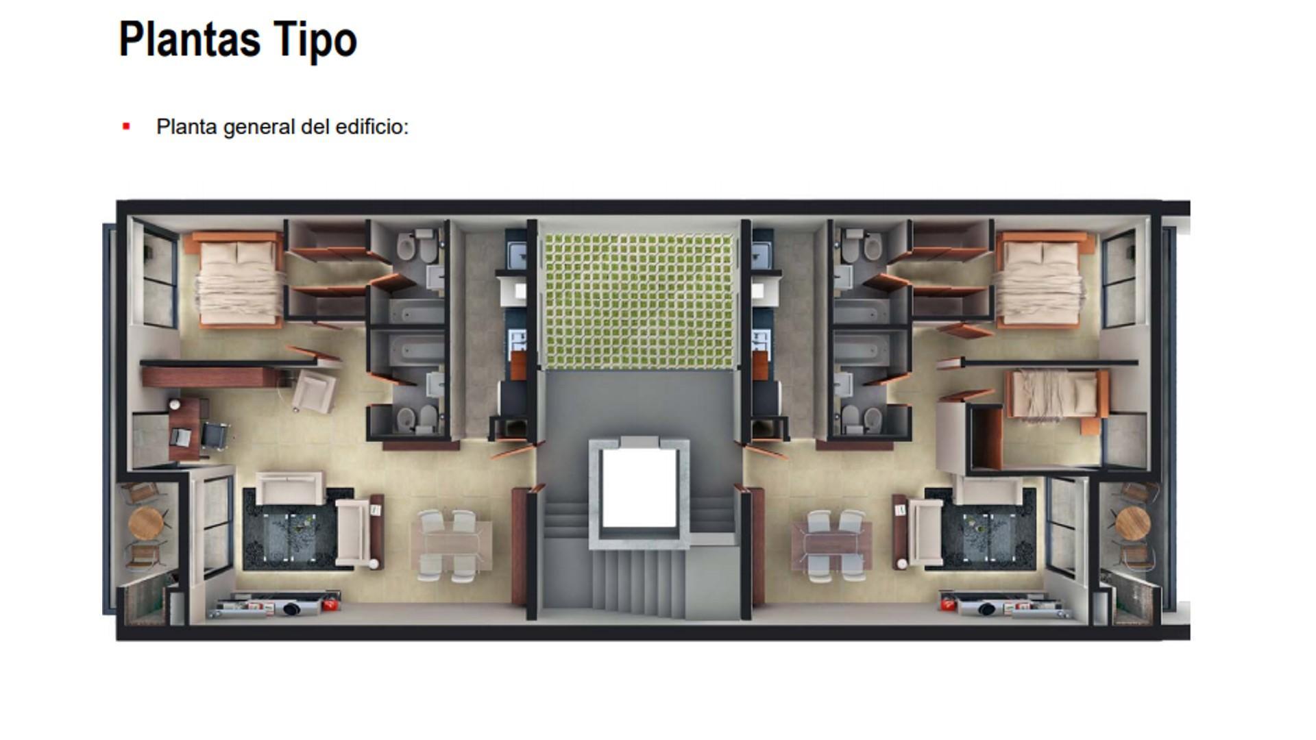 Departamento en pozo de 2 ambientes con balcón y parrilla. Financiación en 18 meses.