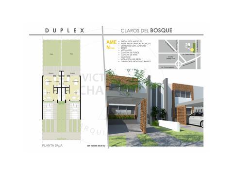 Duplex en B Claros del Bosque A ESTRENAR!!