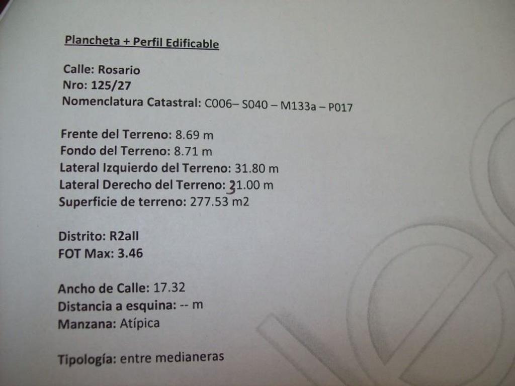 EXCELENTE LOTE EN PLENO CENTRO DE CABALLITO A 1 CUADRA DEL AV RIVADAVIA AV LA PLATA Y PQUE RIVADAVIA