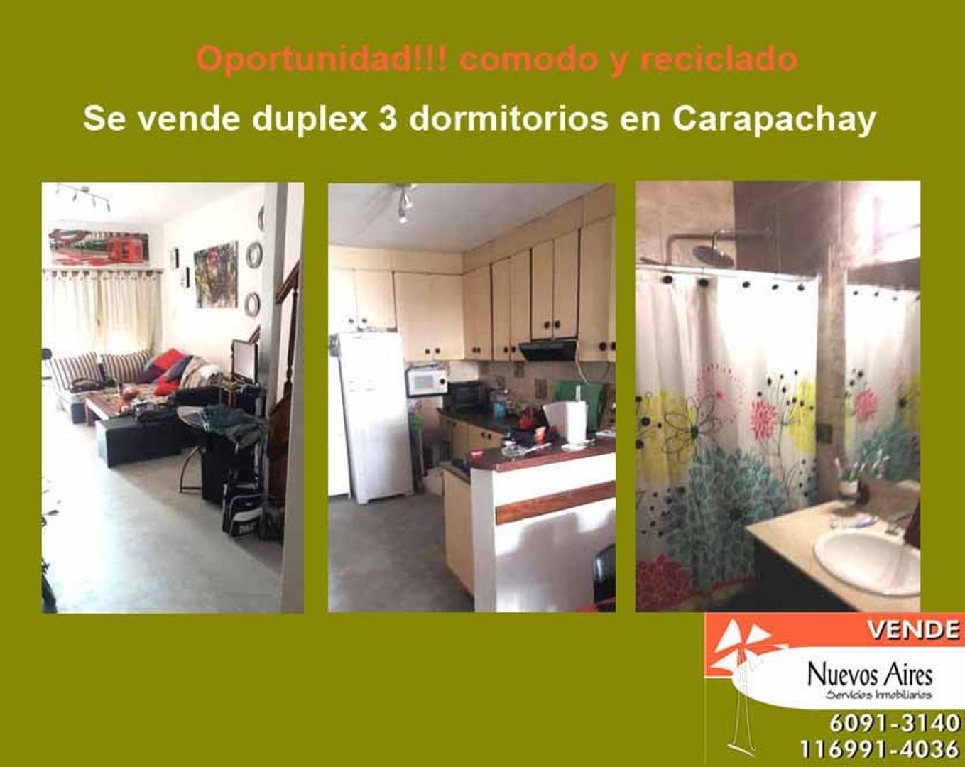 Se vende duplex en Carapachay - U$S 150.000 - No apto credito