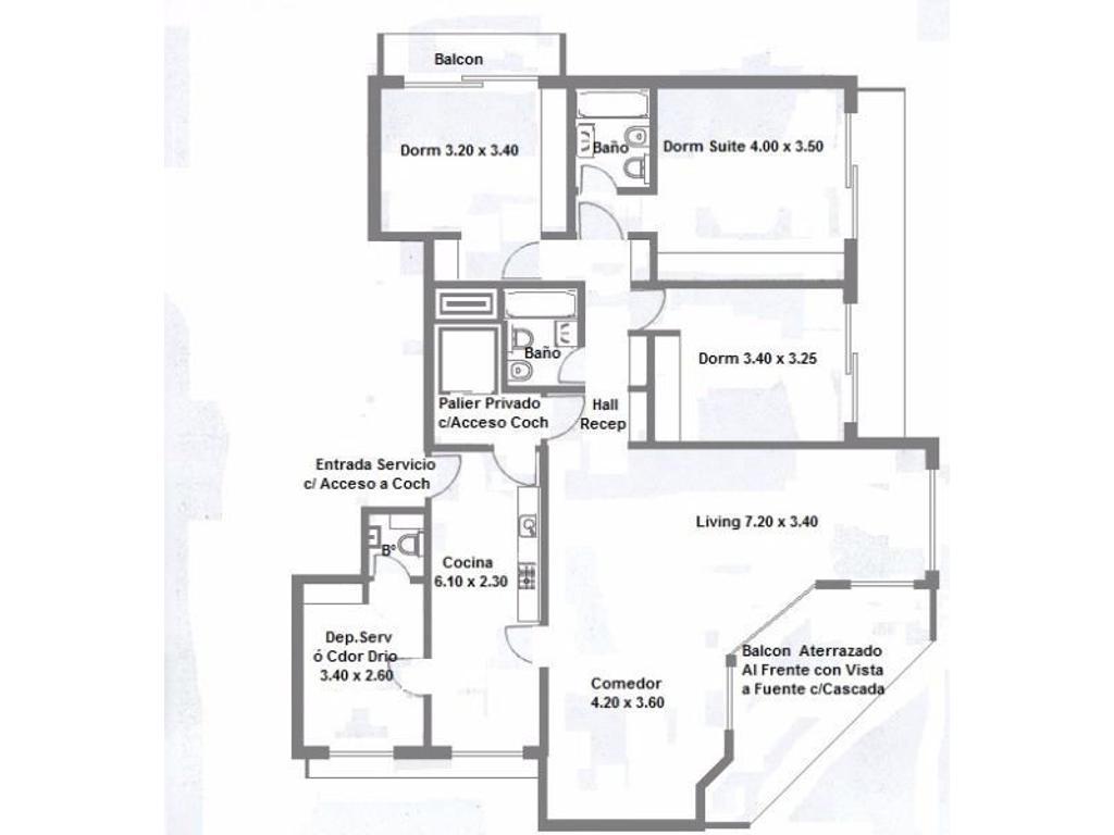 Casa del Angel S/Piso 4 Ambientes c/Dep Servicio, Balcon Aterrazado al FTE. 2 Cocheras Fijas.