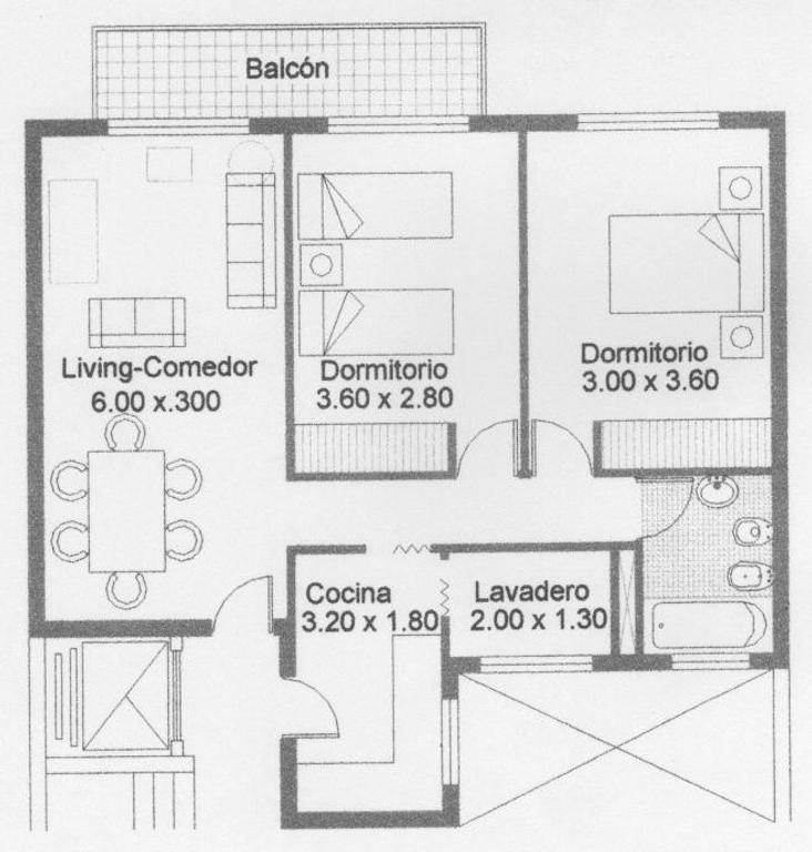 "Flores 3 ambientes frente balcon 60 m"" cochera opcional"