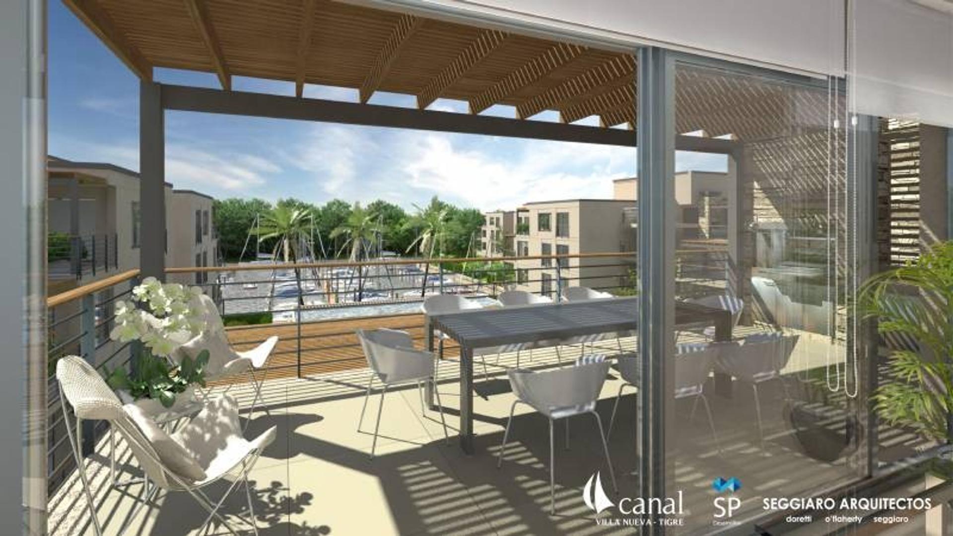 Departamentos en 2° en Edificios C y D - Terrazas al Río CANAL Villa Nueva