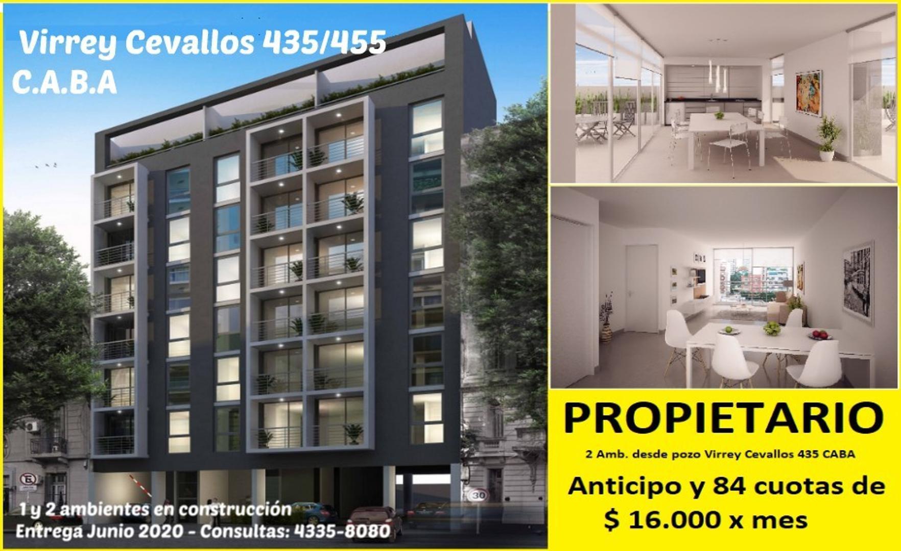 1 y 2 amb. categoría (en construcción) ap/prof op. cochera a pagar con Anticipo y 84 cuotas en pesos