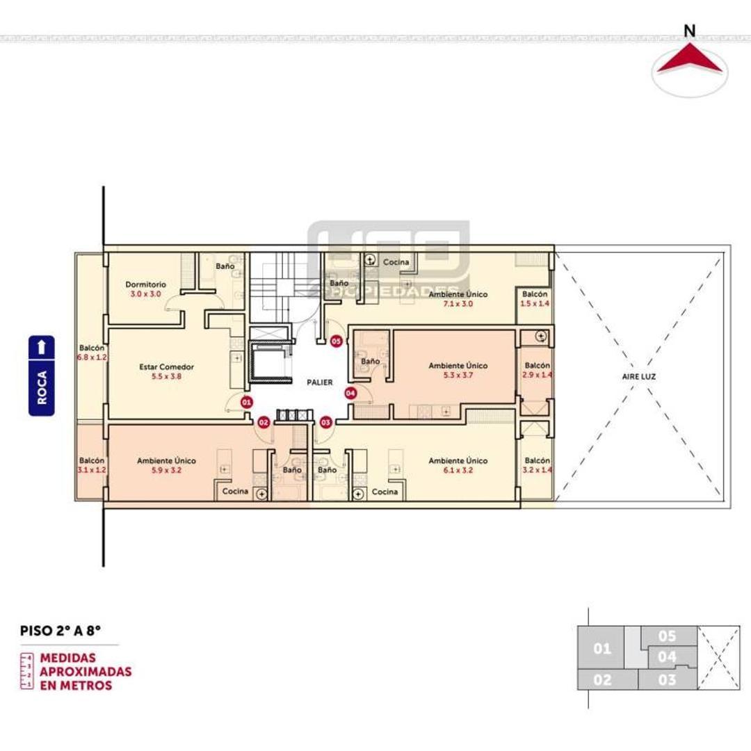 Pte. Roca y Mendoza - Amplio Dpto de 1 Dormitorio Externo. Posibilidad cochera. Vende Uno Propiedad