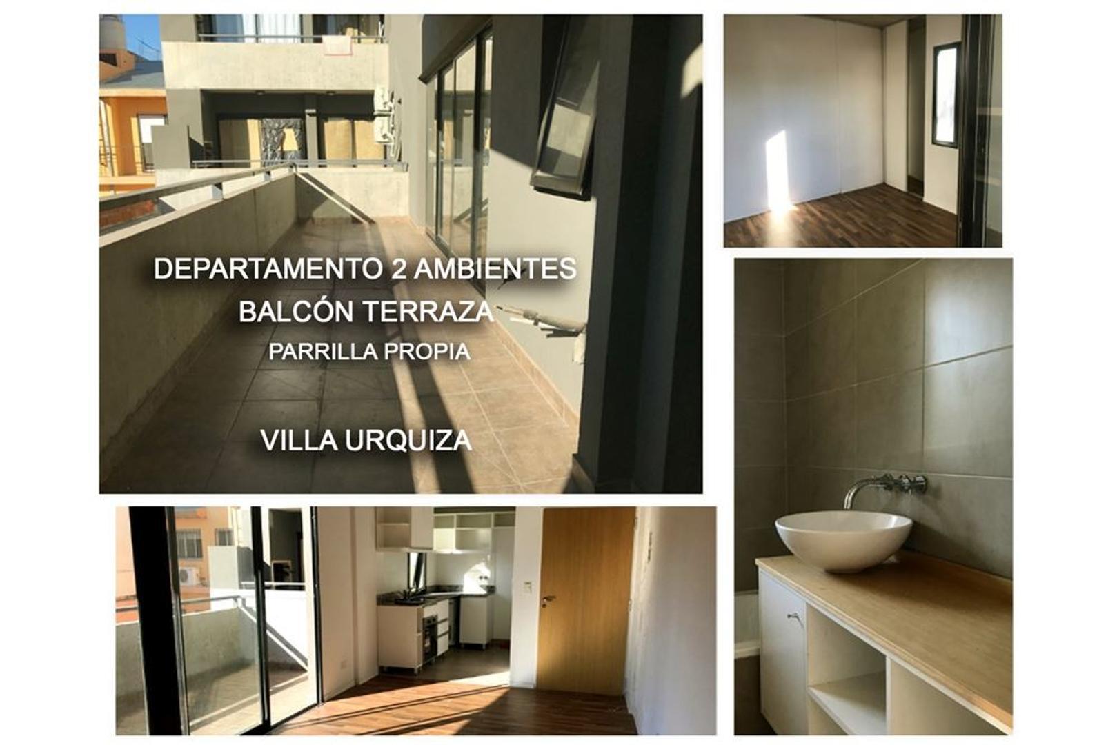 Venta depto 2 amb con parrilla en Villa Urquiza