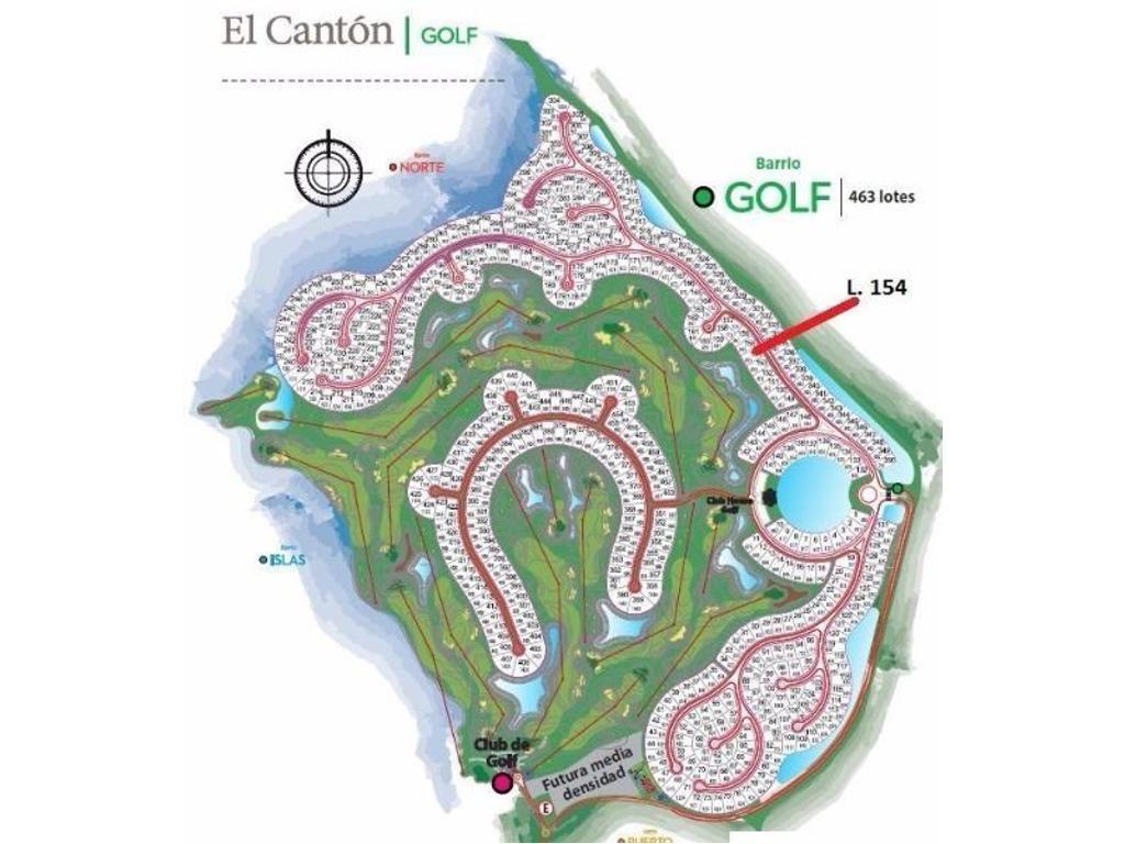 El Canton B° GOLF Excelente Lote al agua y cancha de Golf