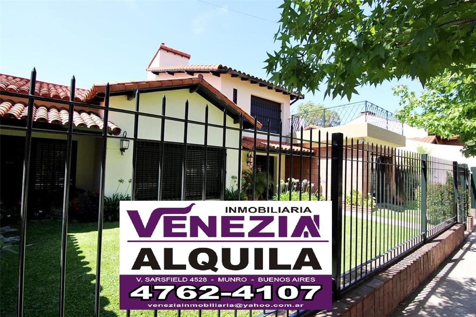 Casa en Alquiler en Olivos Roche
