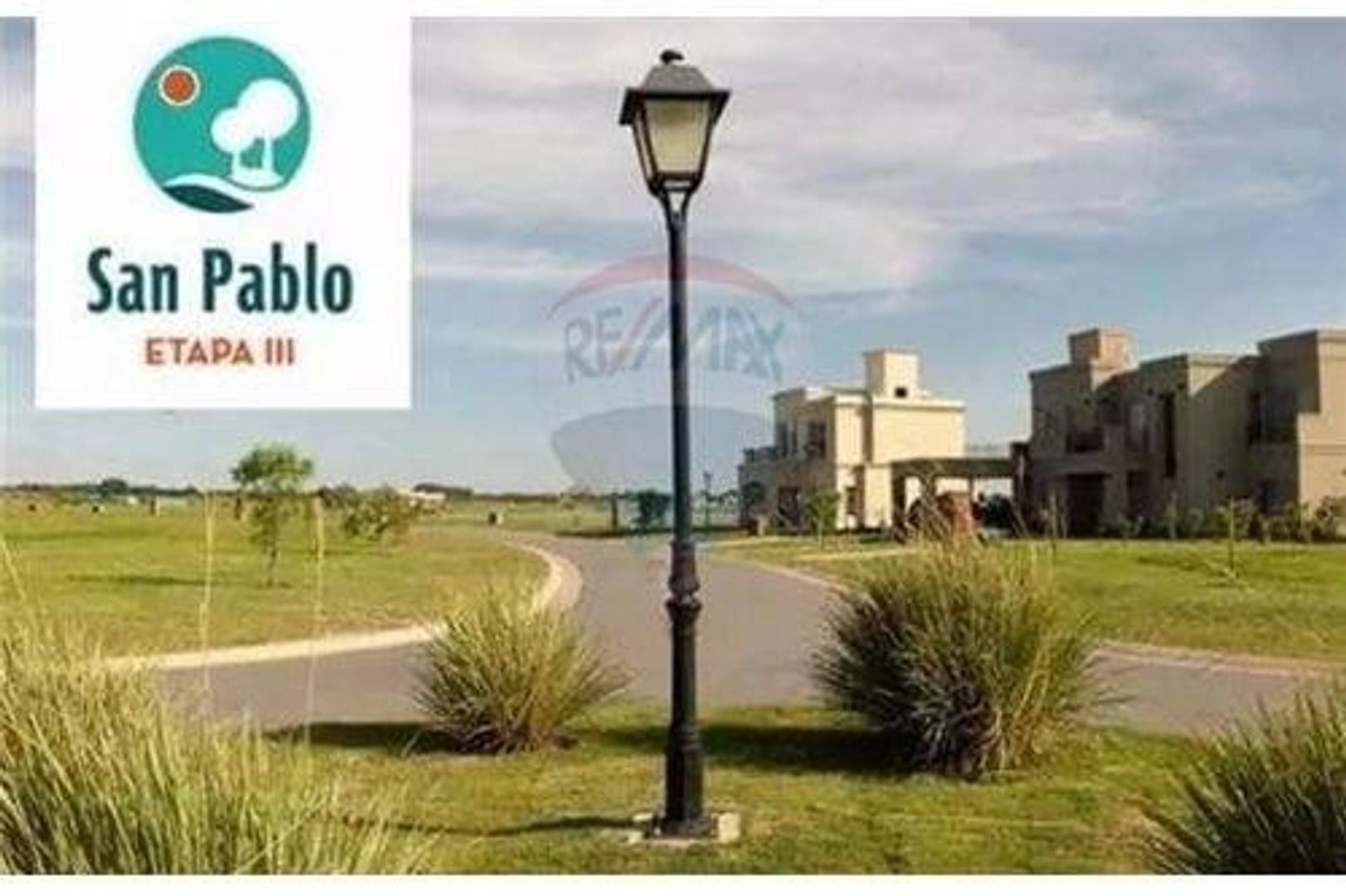 Lote San Pablo - Pilar 530 Mts Adelanto + Cuota