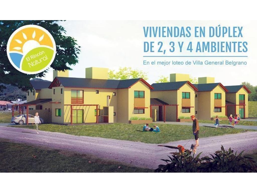 DUPLEX A ESTRENAR, 2 3 y 4 AMBIENTES. EN EL LOTEO MAS PRESTIGIOSO DE VILLA GENERAL BELGRANO.