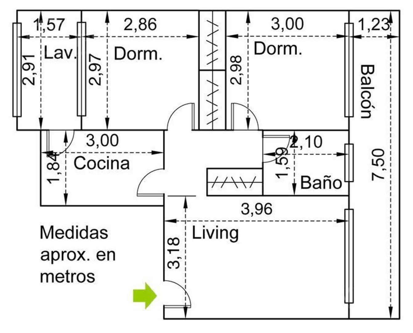 Oficina en Venta en Colegiales - 3 ambientes