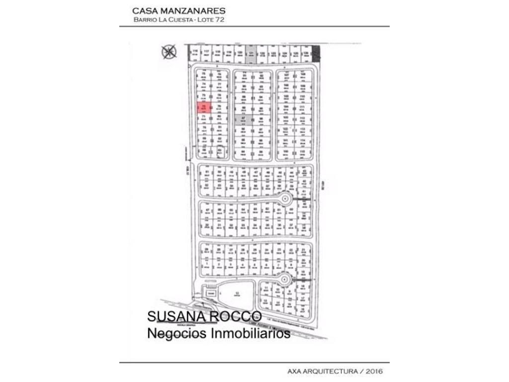Excelente lote en oportunidad en el Barrio Privado La Cuesta - Manzanares