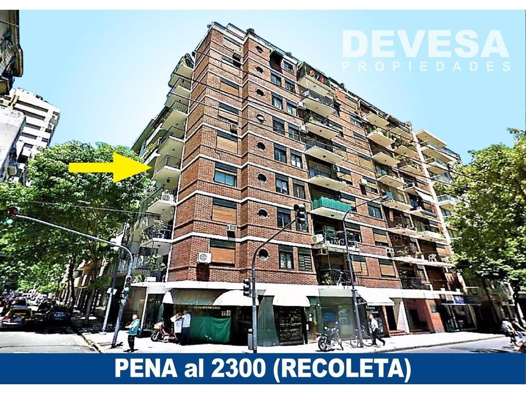 2 AMB amplio c/Balcón en Peña al 2300 (RECOLETA)
