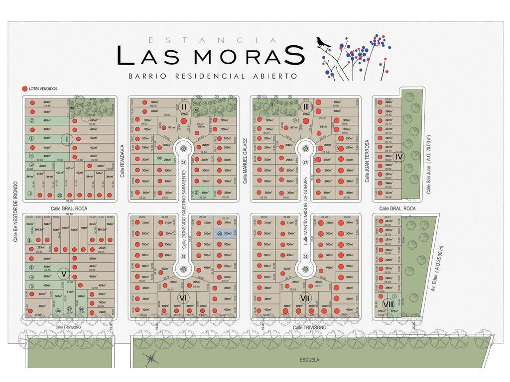 TERRENOS EN  B° LAS MORAS - RICARDONE- ULTIMOS LOTES- FINANCIACION