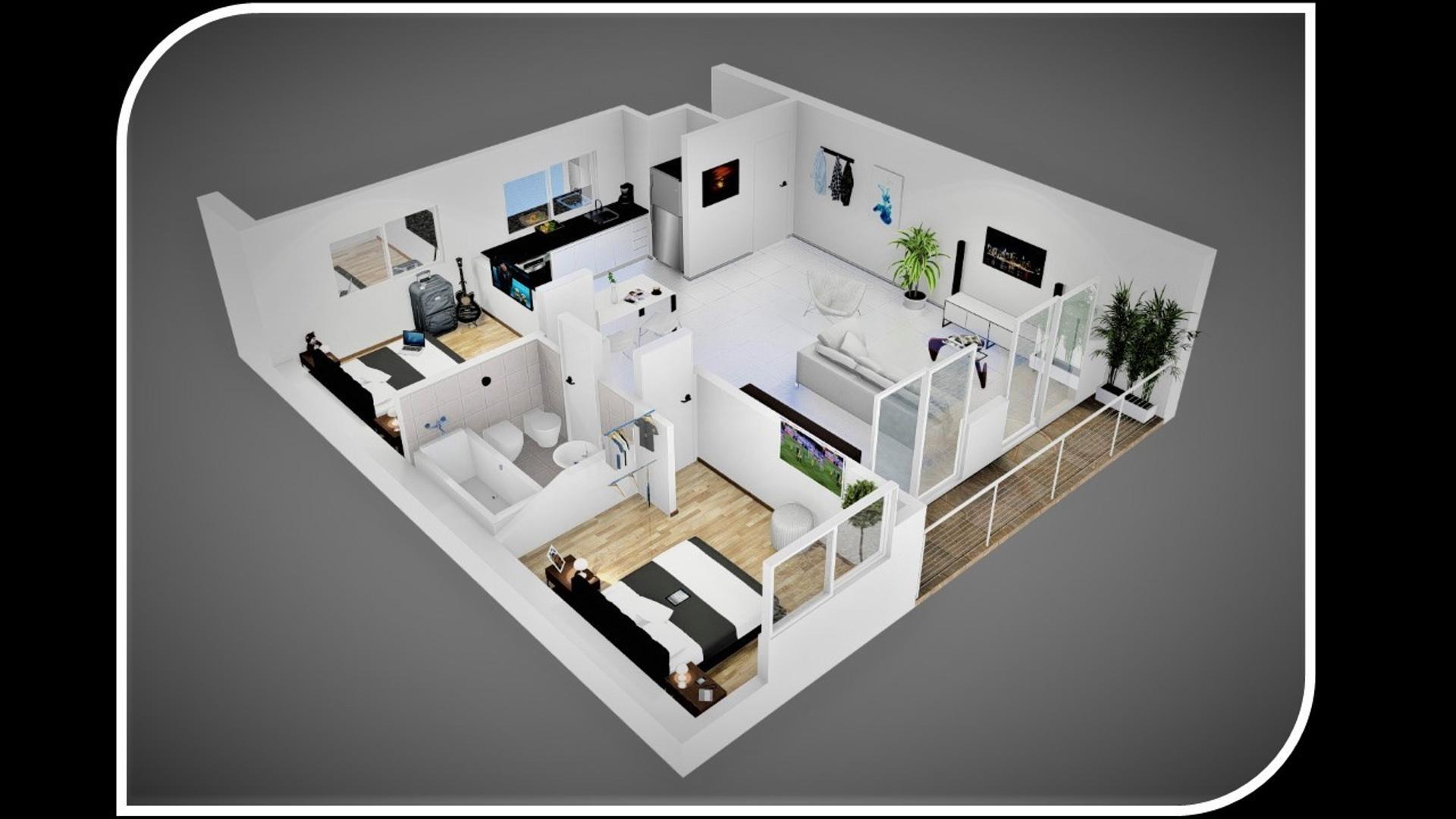 Departamento en Venta - 3 ambientes - USD 84.000