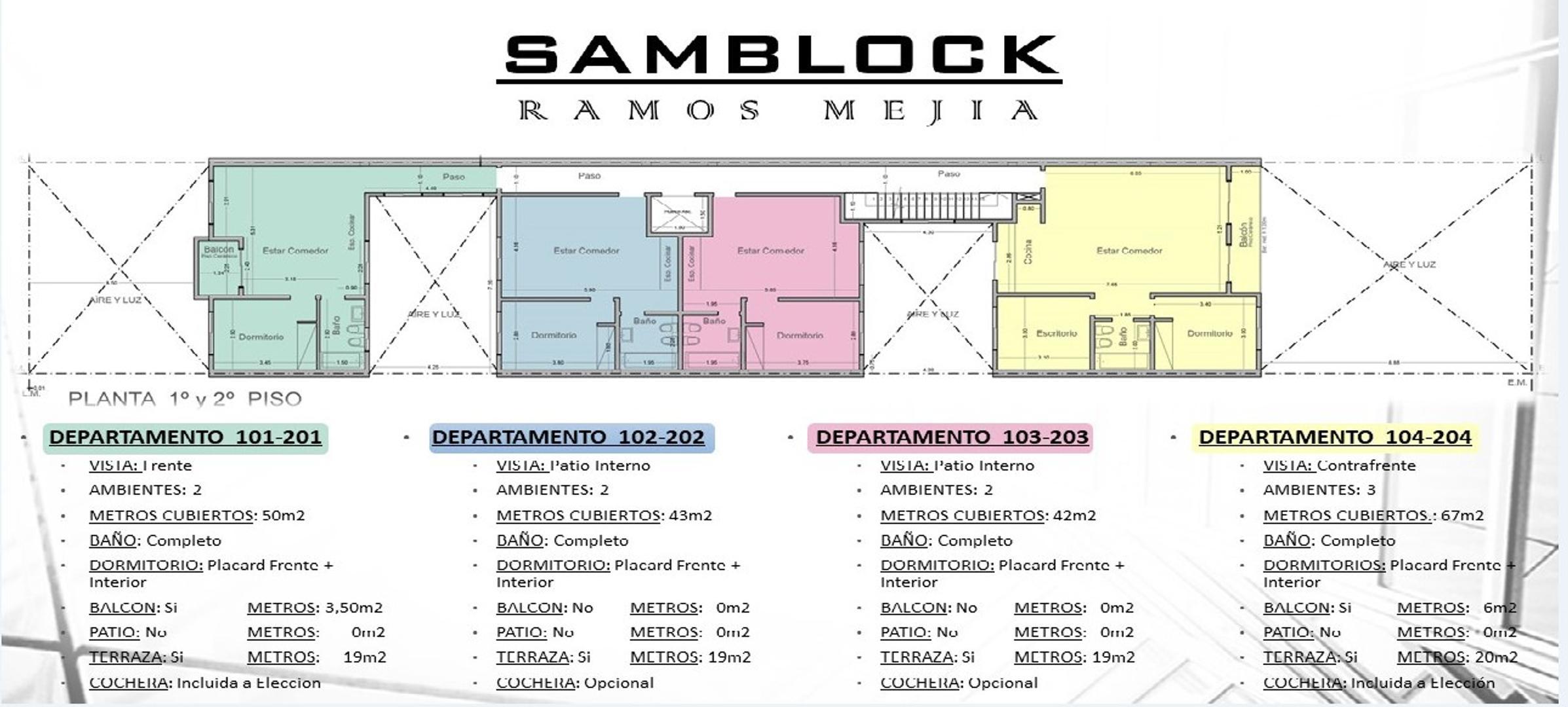 Departamento - 67 m² | 2 dormitorios | 2 baños