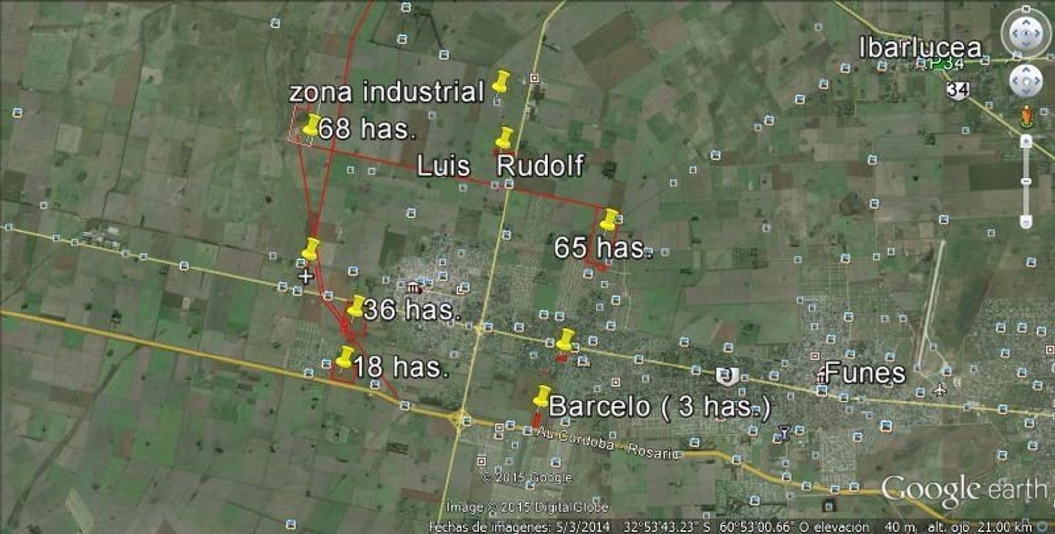 Fracción a la venta Roldán. 3 ha. Autopista Rosario-Córdoba. Entrega Inmediata.