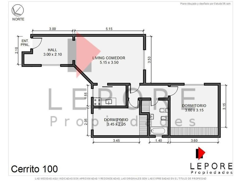 Depto 3 ambientes Centro LEPORE - Foto 16