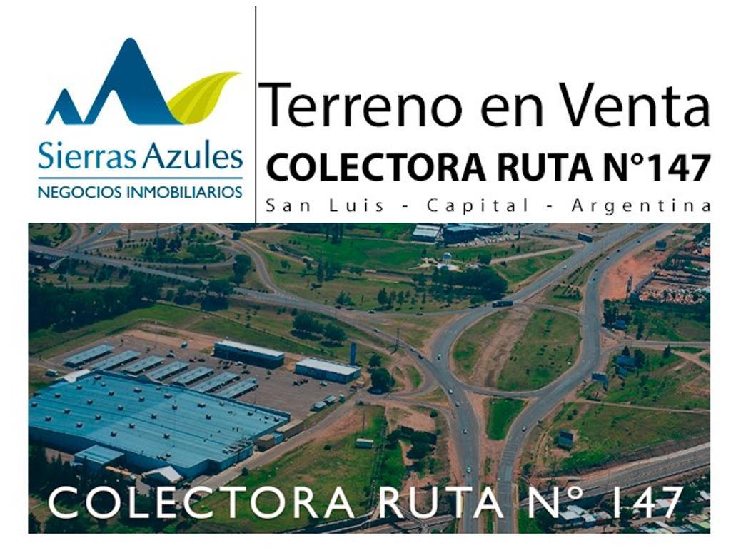 Venta de terreno en Colectora  entre  Ruta 147 Y Av. del  Fundador. San Luis -Argentina.