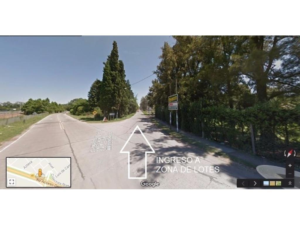 OPORTUNIDAD!! LOTES A MTS DE COLECTORA A 500 MTS DE ACCESO COUNTRY SAN DIEGO Y  BANCO PROVINCIA
