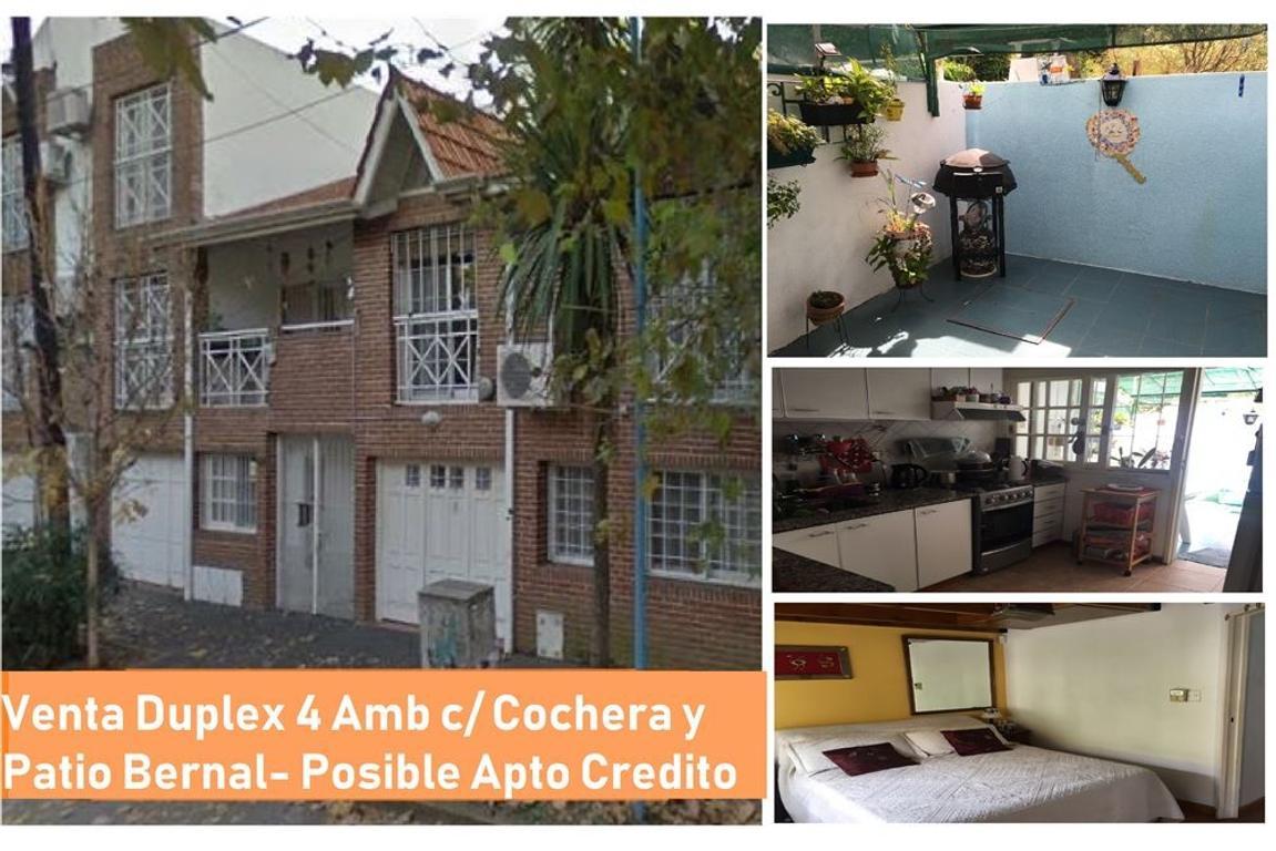 Venta Duplex Bernal Centro 4 ambientes con cochera