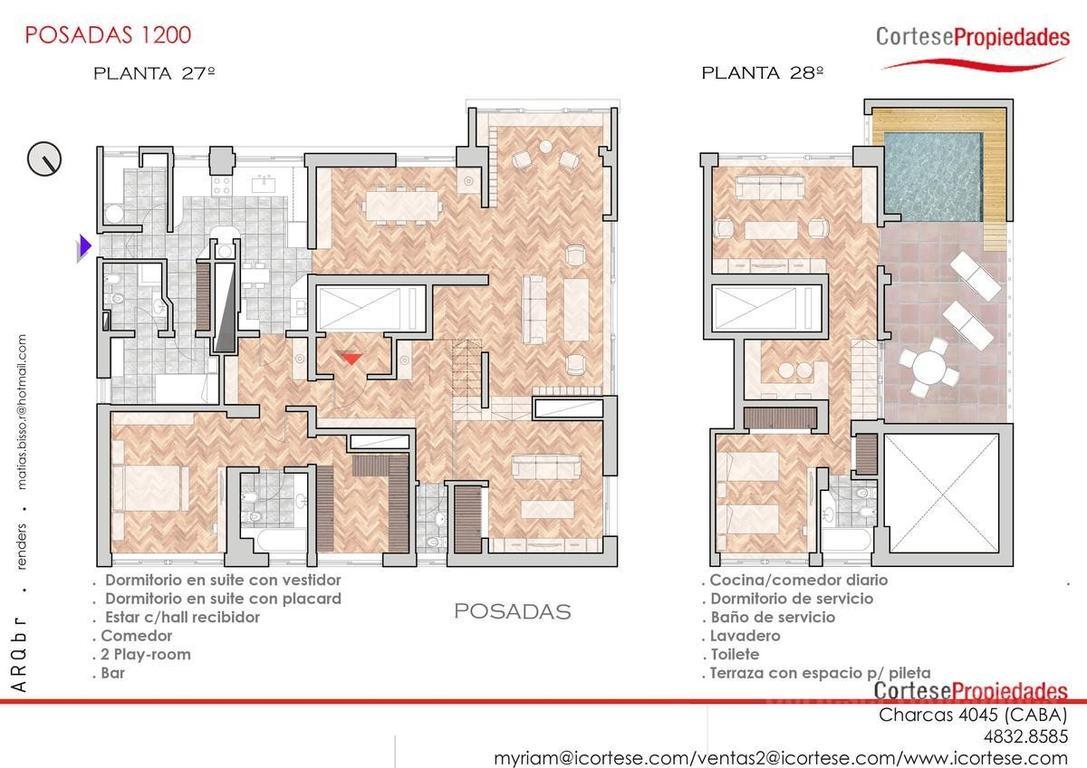 Recoleta, a metros patio Bullrich, Piso alto en duplex, 5 ambientes y mas, cochera, seguridad