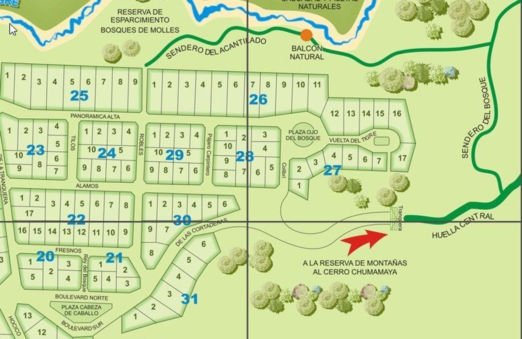 lotes en Country Chumamaya, lo mejor y más seguro en Merlo, San Luis