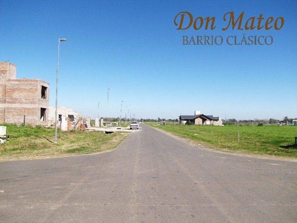 Lote en barrio abierto Don Mateo