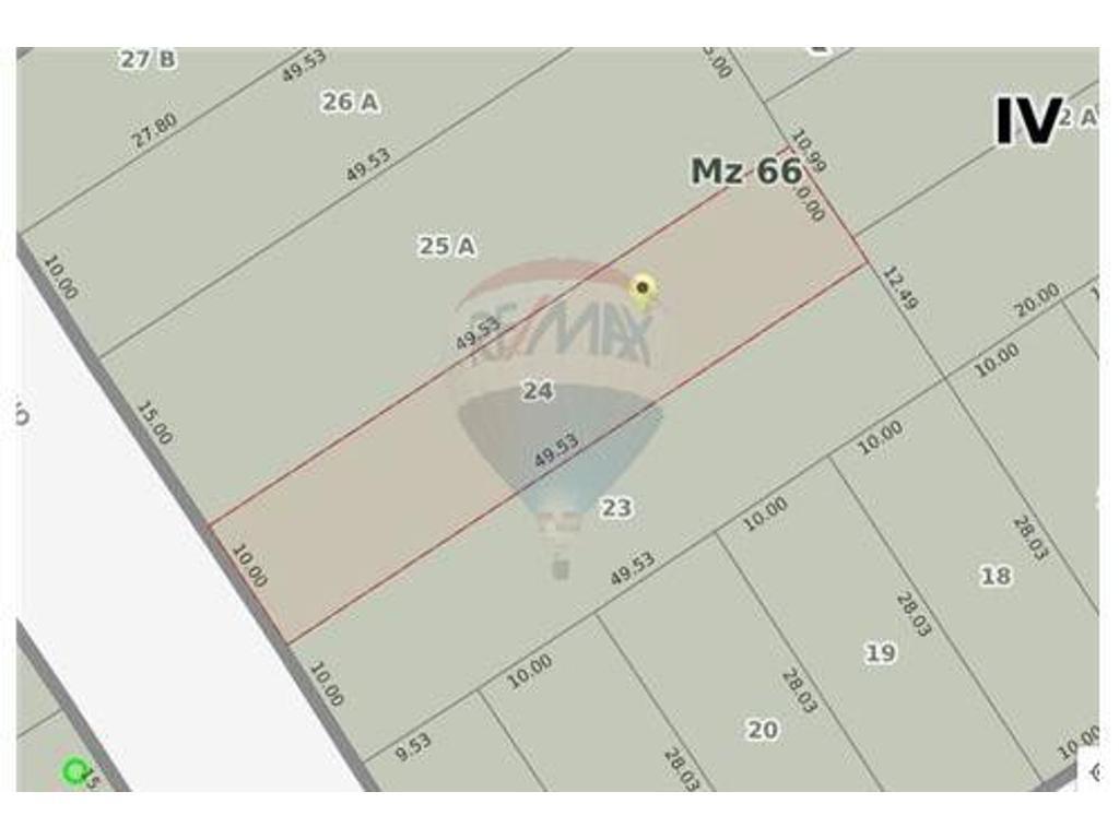 LOTE DE 495 MTS2 EN ZONIFICACION R2 EZPELETA