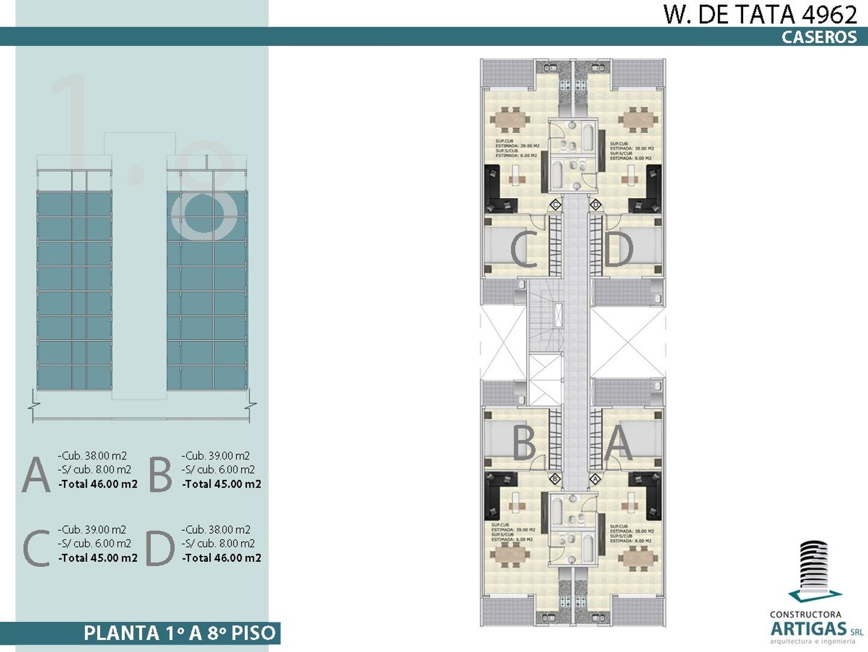 Wenceslao de Tata 4900 - 2 ambientes con cochera