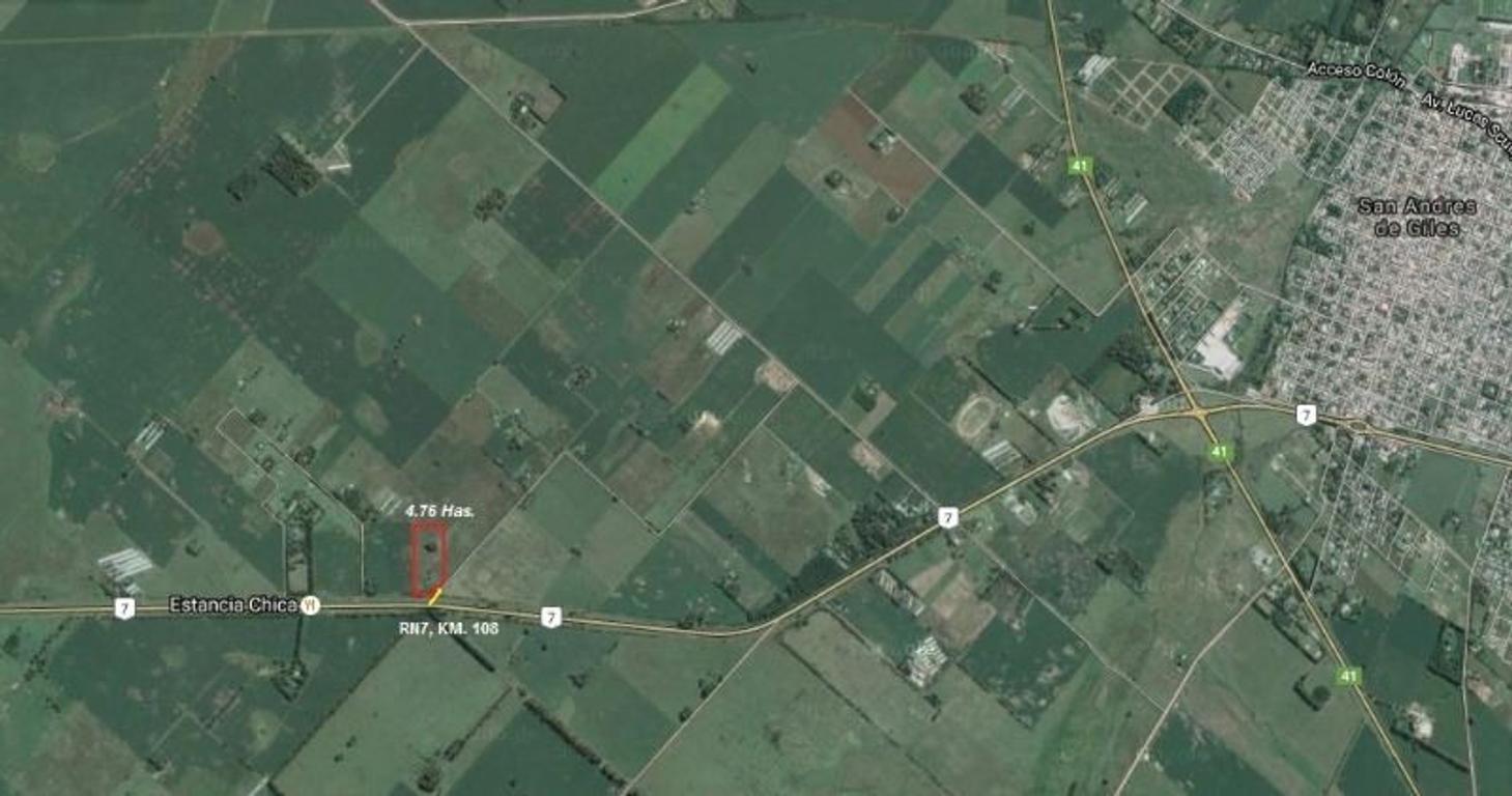 CAMPO CAVADO  4 HAS 76 AS SOBRE R7 SAN A. DE GILES, IDEAL DESARROLLO COMERCIAL/TURÍSTICO - COD. C110