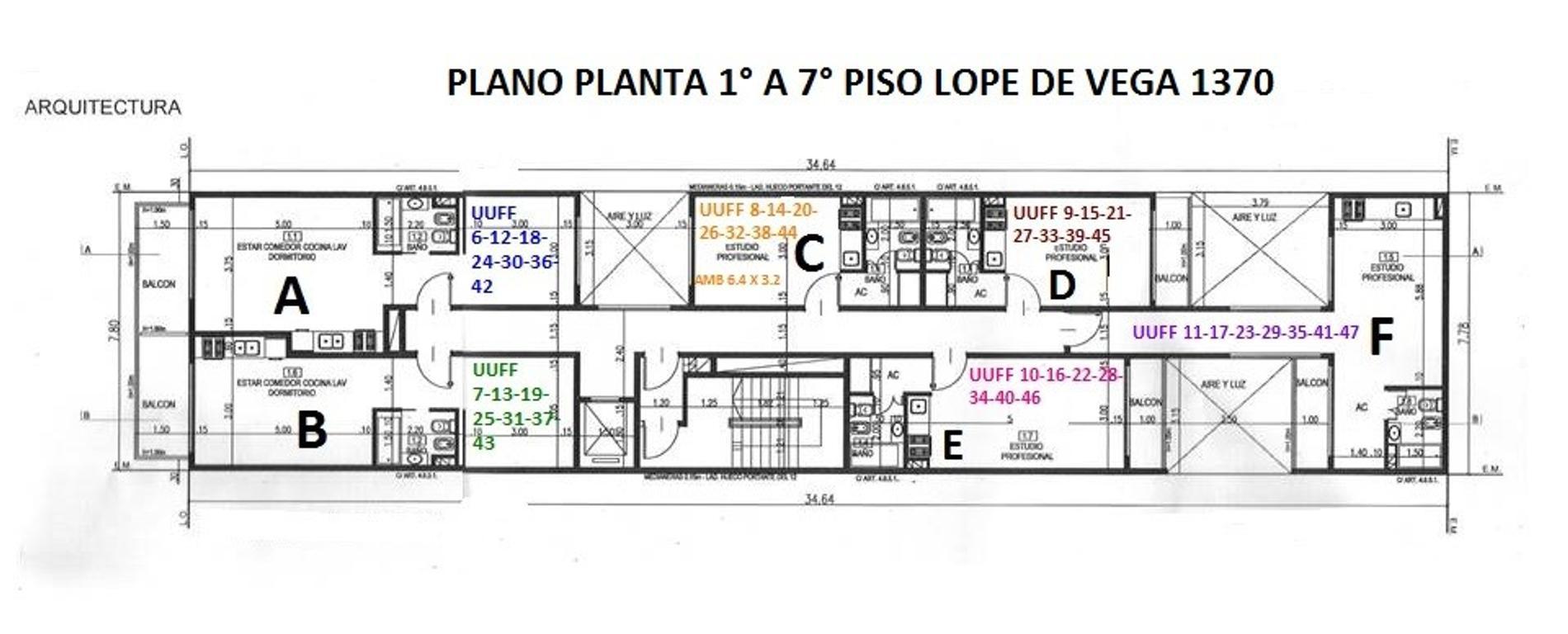 XINTEL(NIR-NIR-1068) Departamento - Venta - Argentina, Capital Federal - AV. LOPE DE VEGA  AL 1300