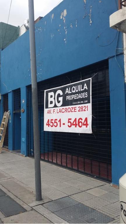 Local comercial, s/lacroze 8.66 x 43, 360m2 cubiertos planta baja + 1° piso