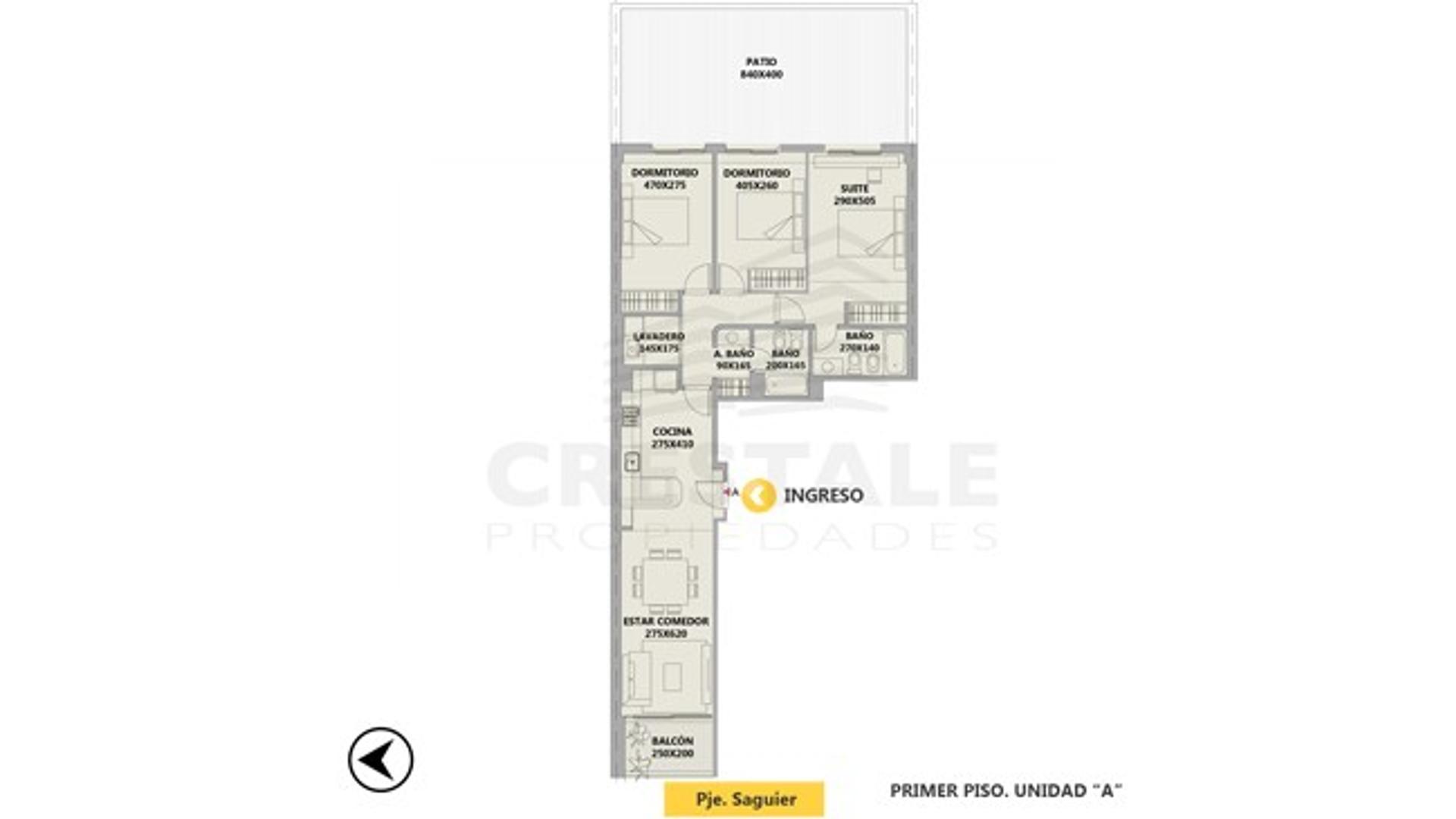 Pasaje Saguier y Catamarca - Departamento 3 dormitorios a la venta