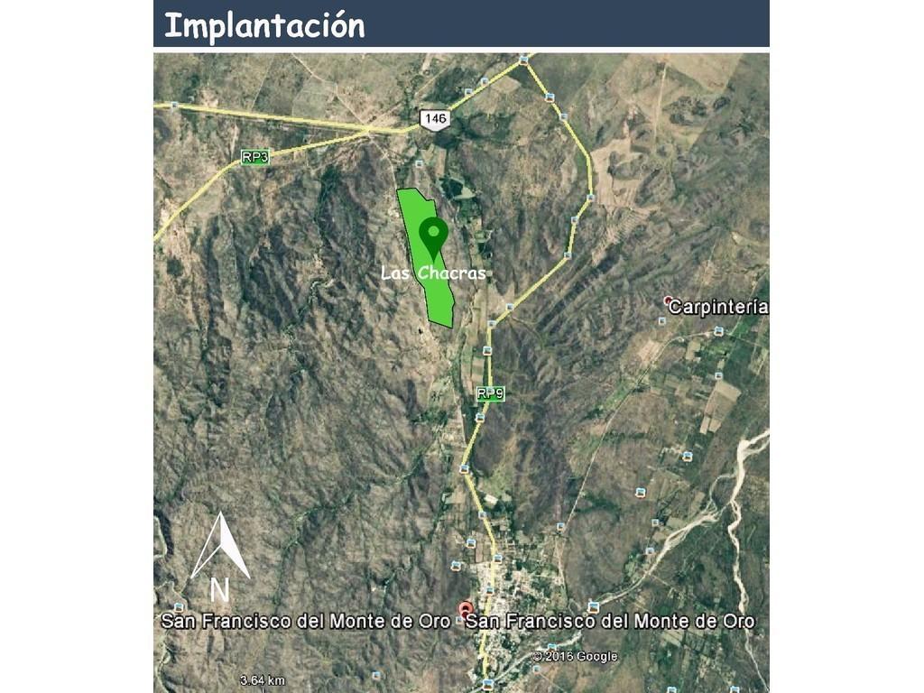 Chacra de 5 has. en San Francisco del Monte de Oro , San Luis