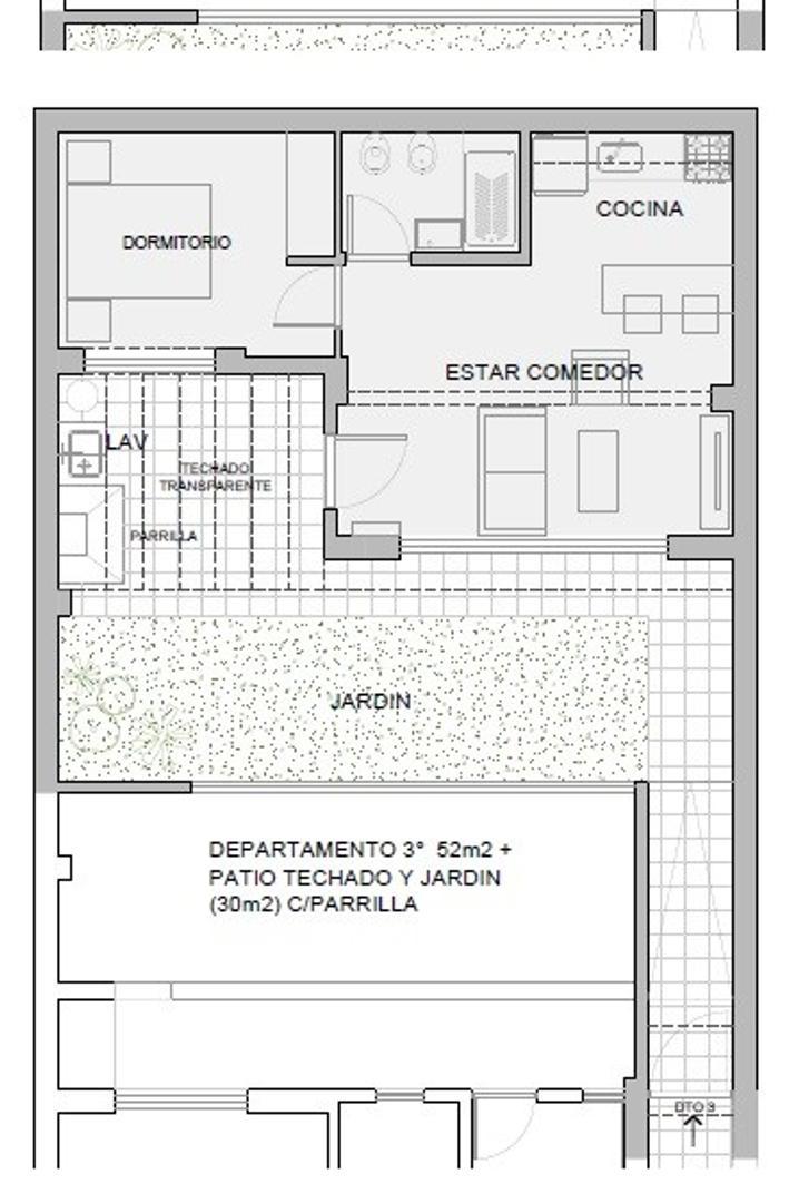 PH de 2 ambientes con patio y jardín con parrilla - sin expensas -  - Foto 19